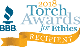 BBB Torch Award for Ethics, awarded to Meridian Automotive in 2018