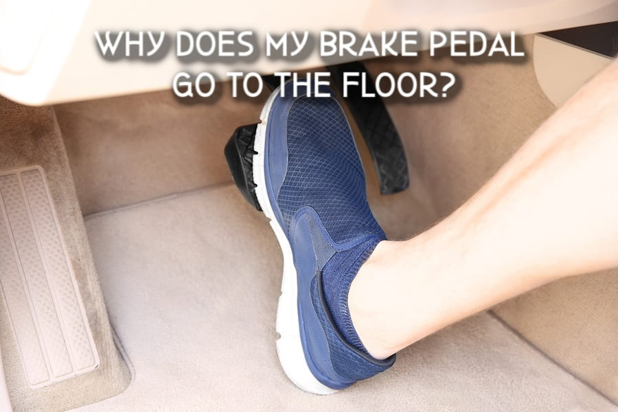 Foot pressing pedal of car